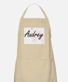 Audrey Artistic Name Design with Butterflies Apron