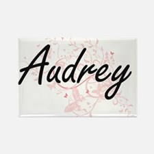 Audrey Artistic Name Design with Butterfli Magnets