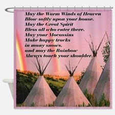 Cherokee Blessing Prayer Shower Curtain