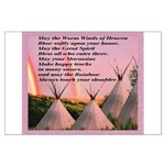 Cherokee Blessing Prayer Large Poster