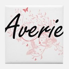 Averie Artistic Name Design with Butt Tile Coaster