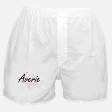 Averie Artistic Name Design with Butt Boxer Shorts