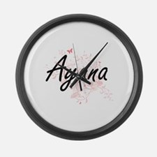 Ayana Artistic Name Design with B Large Wall Clock