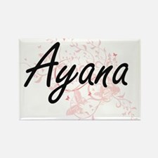 Ayana Artistic Name Design with Butterflie Magnets