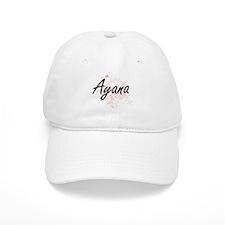 Ayana Artistic Name Design with Butterflies Cap