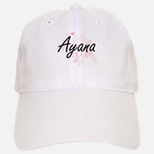 Ayana Artistic Name Design with Butterflies Cap