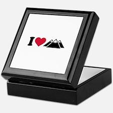 I love mountains Keepsake Box