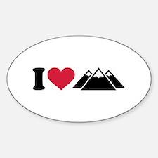 I love mountains Sticker (Oval)