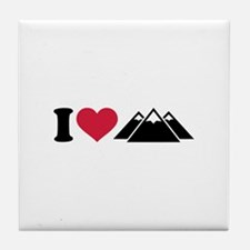 I love mountains Tile Coaster
