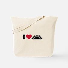 I love mountains Tote Bag
