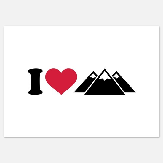 I love mountains 5x7 Flat Cards