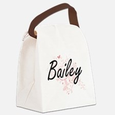 Bailey Artistic Name Design with Canvas Lunch Bag
