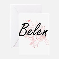 Belen Artistic Name Design with But Greeting Cards