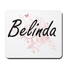 Belinda Artistic Name Design with Butter Mousepad