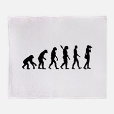 Evolution Photographer Throw Blanket