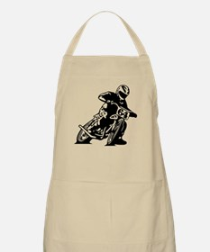 Flat Track One Black Bike Apron