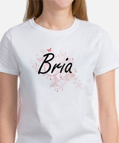 Bria Artistic Name Design with Butterflies T-Shirt