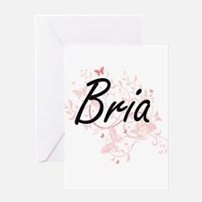 Bria Artistic Name Design with Butt Greeting Cards
