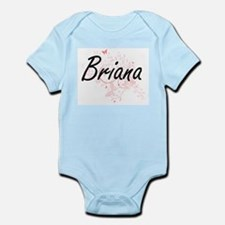 Briana Artistic Name Design with Butterf Body Suit