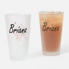 Briana Artistic Name Design with Bu Drinking Glass