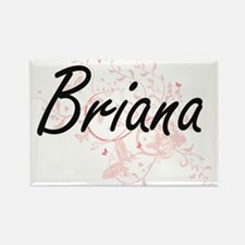 Briana Artistic Name Design with Butterfli Magnets