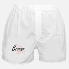 Briana Artistic Name Design with Butt Boxer Shorts