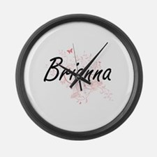 Brianna Artistic Name Design with Large Wall Clock