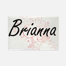 Brianna Artistic Name Design with Butterfl Magnets