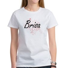 Brisa Artistic Name Design with Butterflie T-Shirt