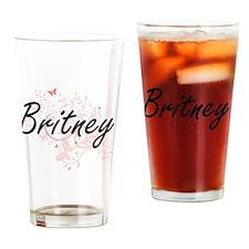 Unique Britney Drinking Glass