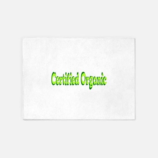 Certified Organic 5'x7'Area Rug