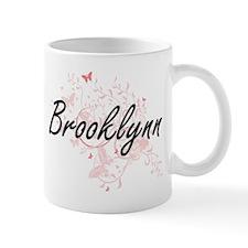 Brooklynn Artistic Name Design with Butterfli Mugs