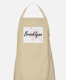 Brooklynn Artistic Name Design with Butterfl Apron