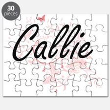 Callie Artistic Name Design with Butterflie Puzzle
