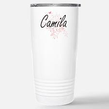 Camila Artistic Name De Travel Mug