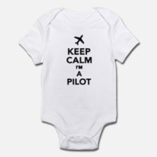 Keep calm I'm a Pilot Infant Bodysuit