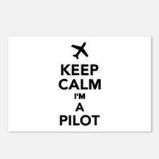 Keep calm I'm a Pilot Postcards (Package of 8)