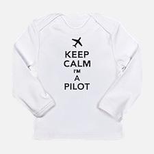 Keep calm I'm a Pilot Long Sleeve Infant T-Shirt