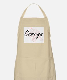 Camryn Artistic Name Design with Butterflies Apron