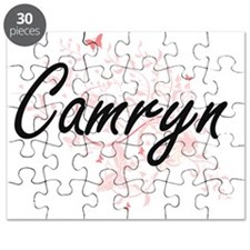 Camryn Artistic Name Design with Butterflie Puzzle