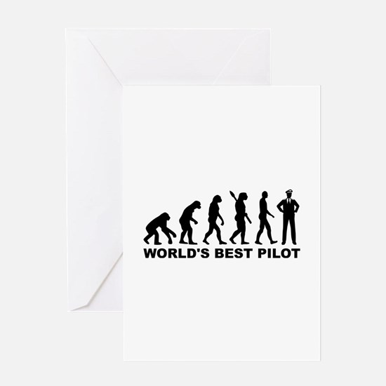 Evolution world's best Pilot Greeting Card