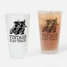Flat Track One Bike Logo Drinking Glass