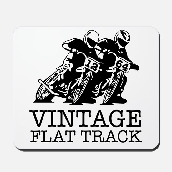 Flat Track One Bike Logo Mousepad