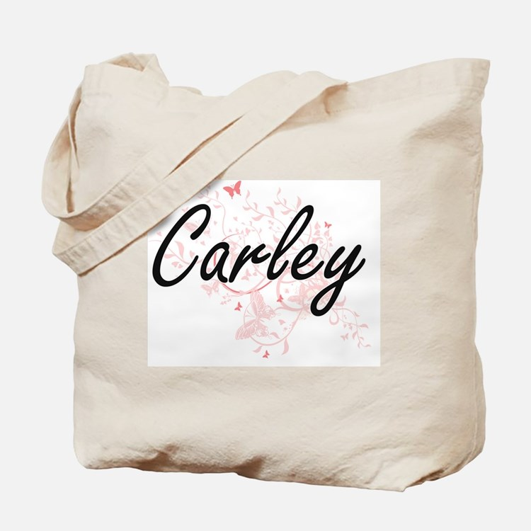Carley Artistic Name Design with Butterfl Tote Bag