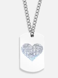 Blue Heart Outlander Dog Tags
