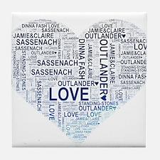 Blue Heart Outlander Tile Coaster