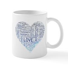 Blue Heart Outlander Mugs