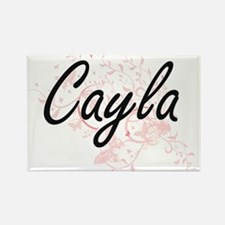 Cayla Artistic Name Design with Butterflie Magnets