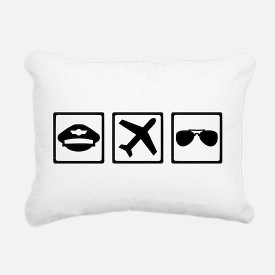 Pilot equipment Rectangular Canvas Pillow