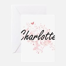 Charlotte Artistic Name Design with Greeting Cards